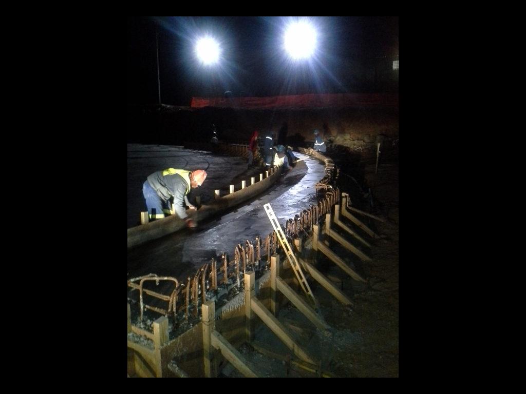 Construction site in the dark... be prepared